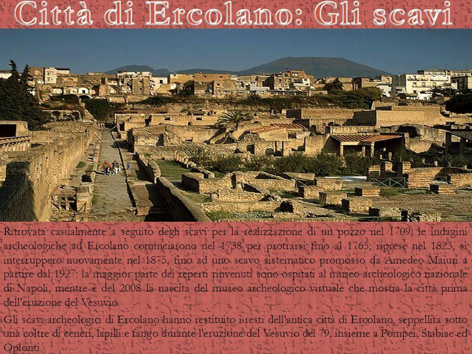 Città di Ercolano: Gli scavi