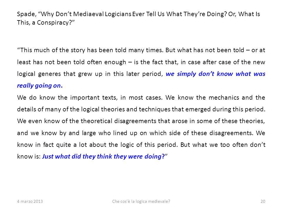 Che cos è la logica medievale