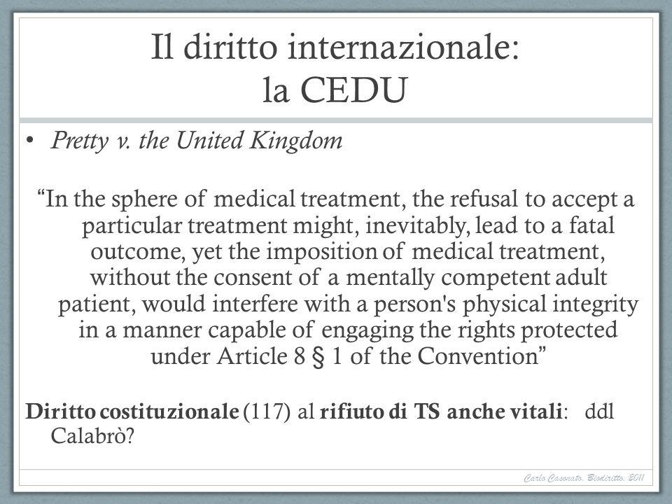 Il diritto internazionale: la CEDU