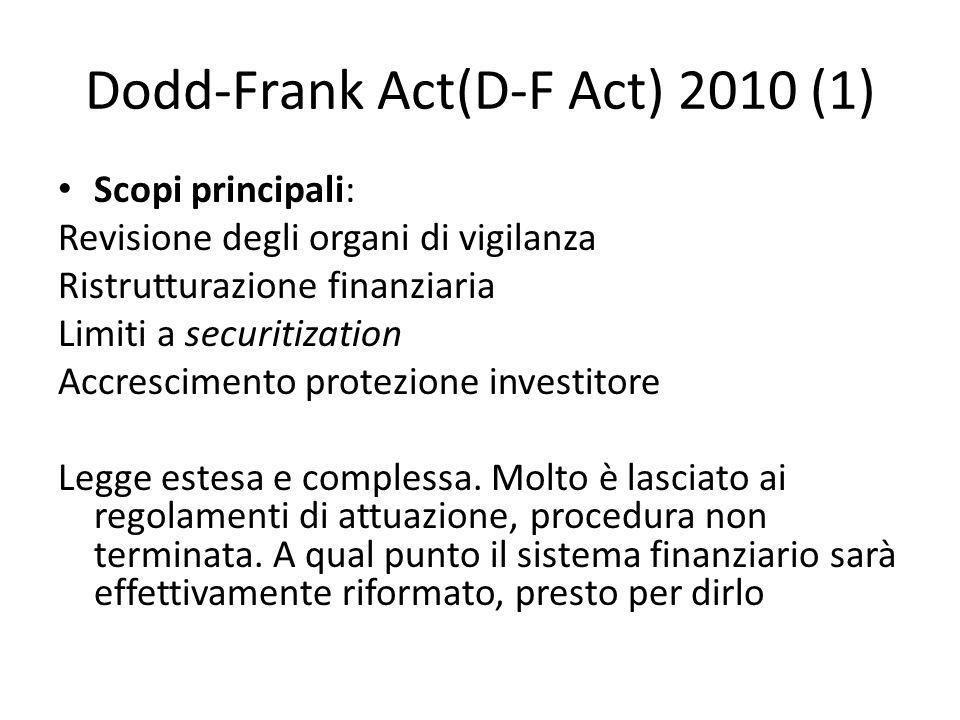 Dodd-Frank Act(D-F Act) 2010 (1)