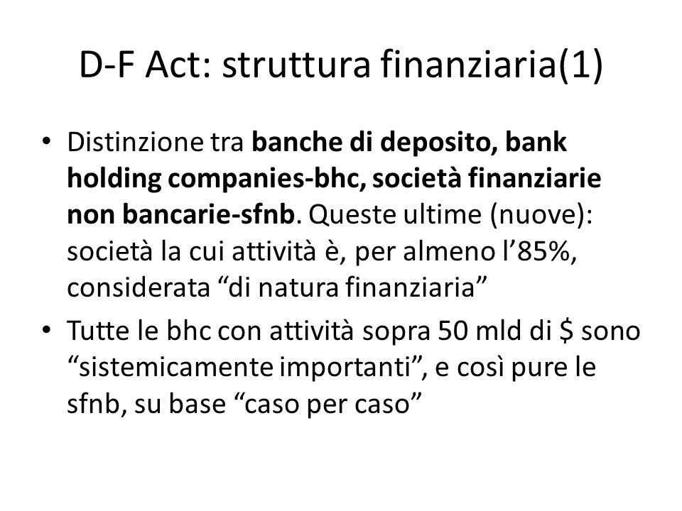 D-F Act: struttura finanziaria(1)