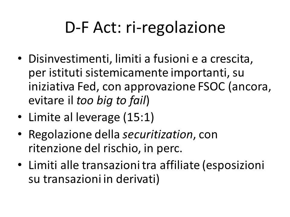 D-F Act: ri-regolazione