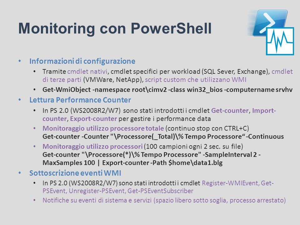 Monitoring con PowerShell