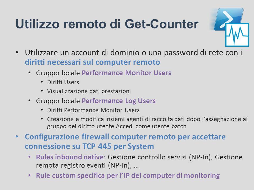 Utilizzo remoto di Get-Counter