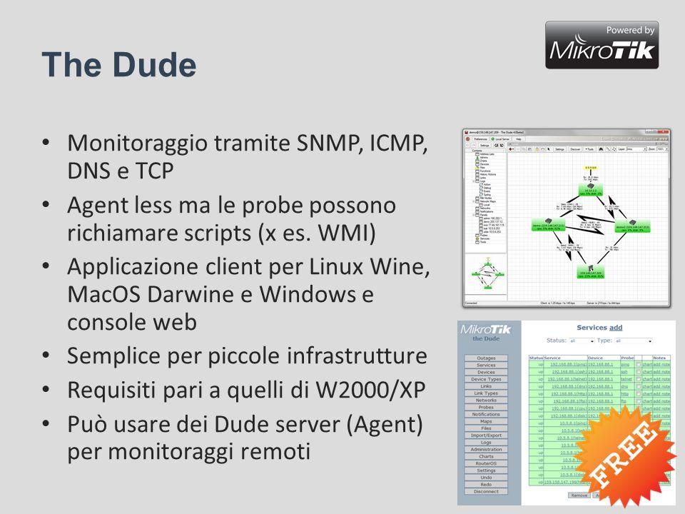 The Dude Monitoraggio tramite SNMP, ICMP, DNS e TCP