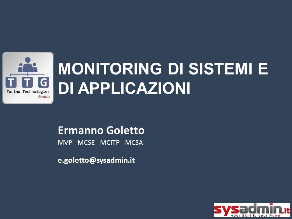 Monitoring di sistemi e di applicazioni