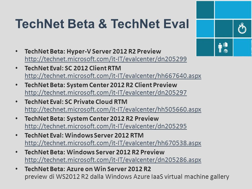 TechNet Beta & TechNet Eval