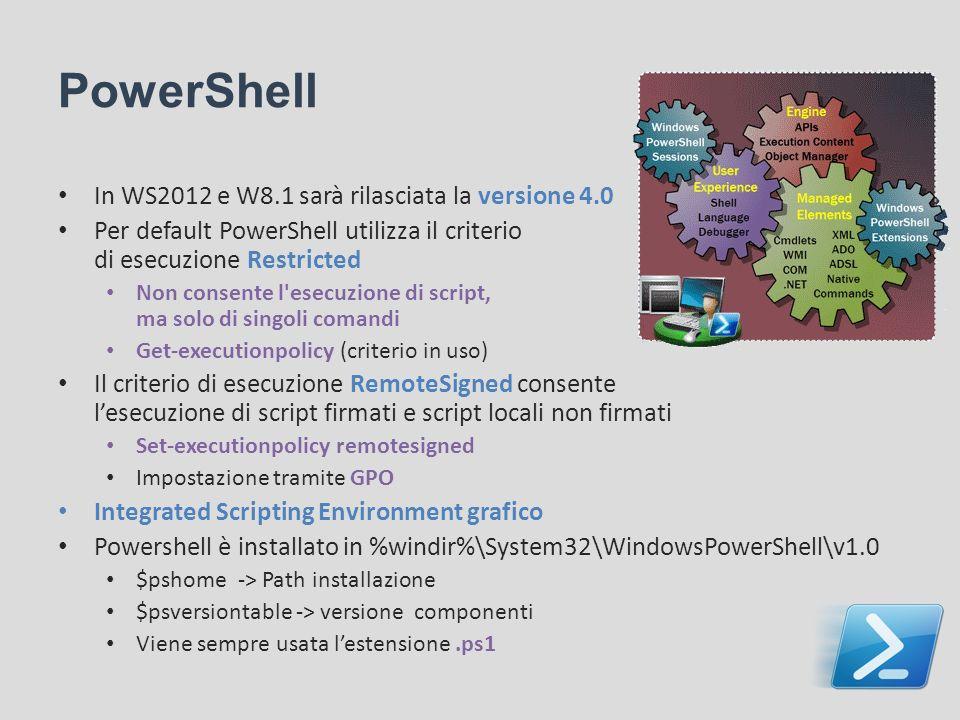 PowerShell In WS2012 e W8.1 sarà rilasciata la versione 4.0