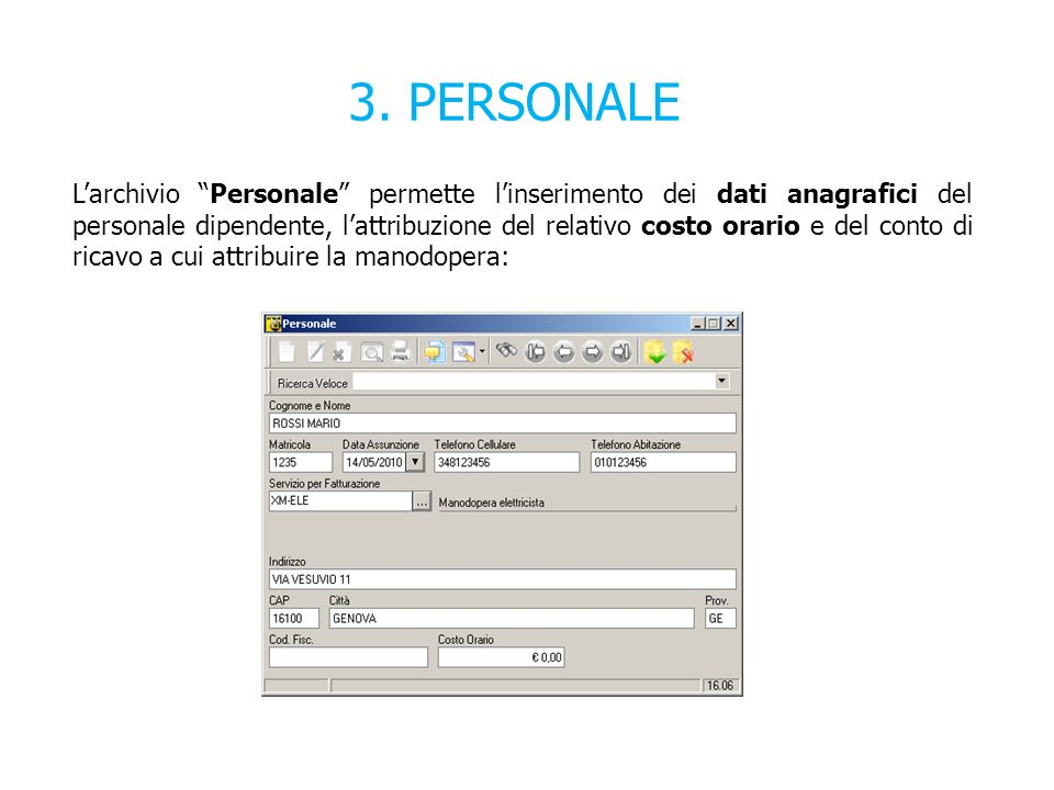 3. PERSONALE