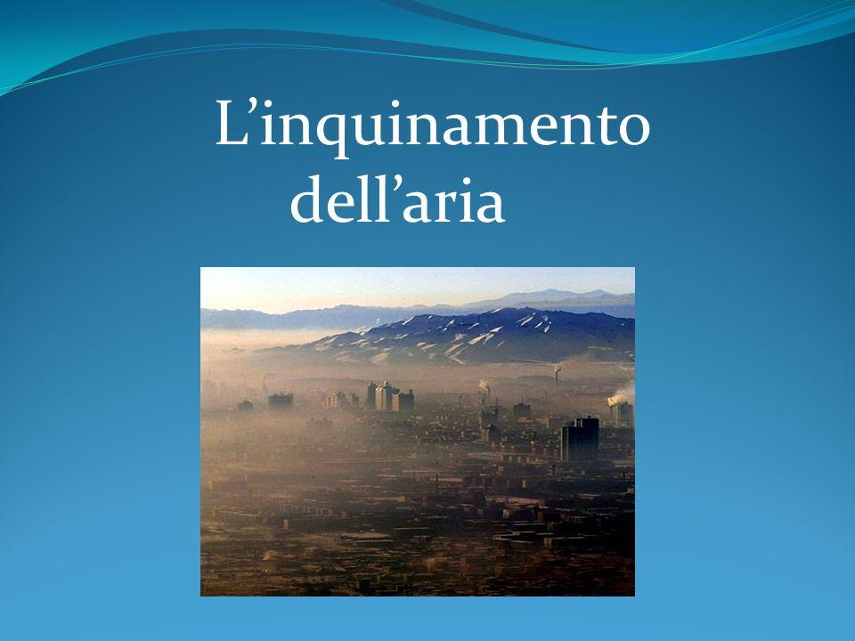 L'inquinamento dell'aria
