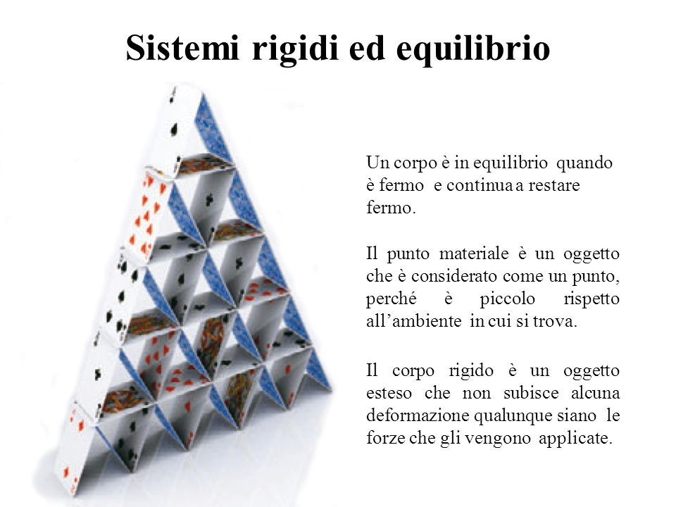 Sistemi rigidi ed equilibrio