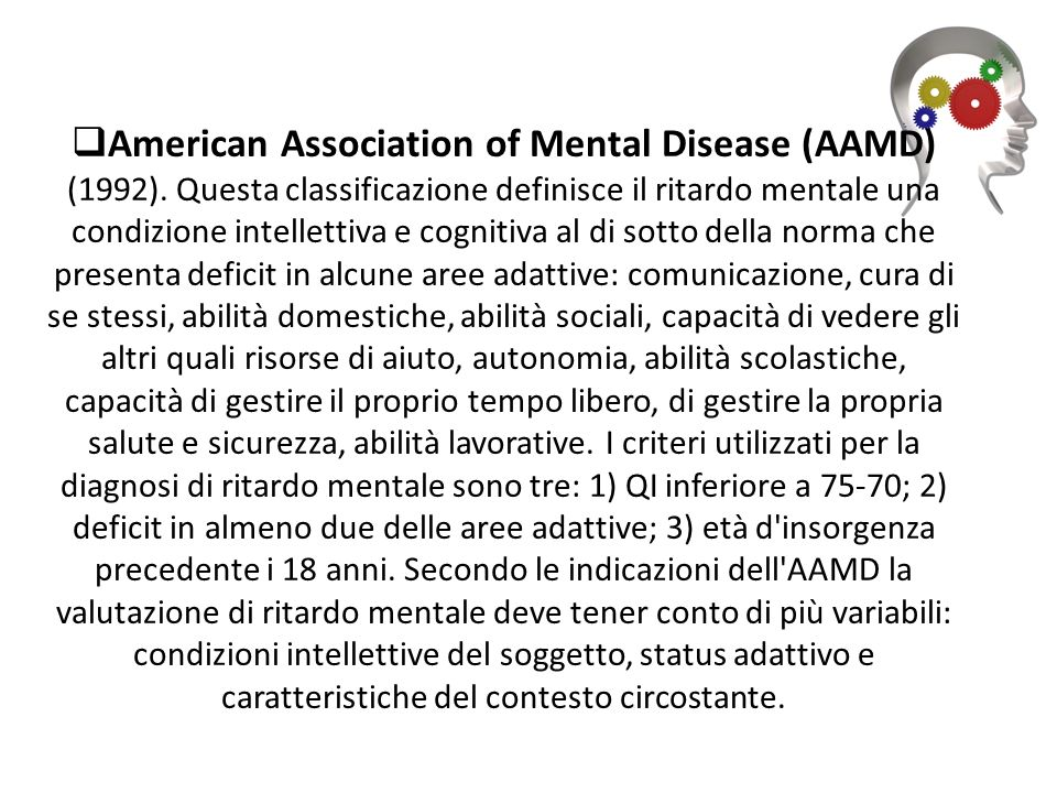 American Association of Mental Disease (AAMD) (1992)