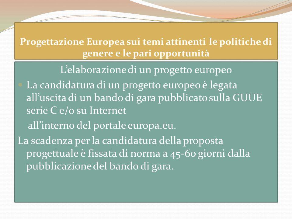 L'elaborazione di un progetto europeo
