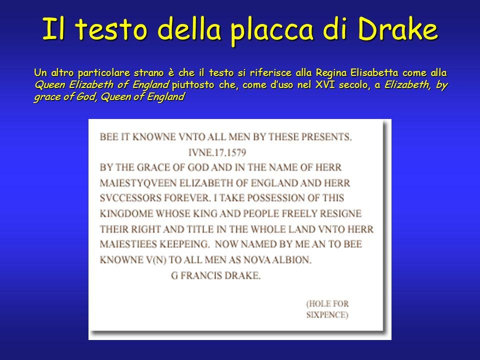 Il testo della placca di Drake