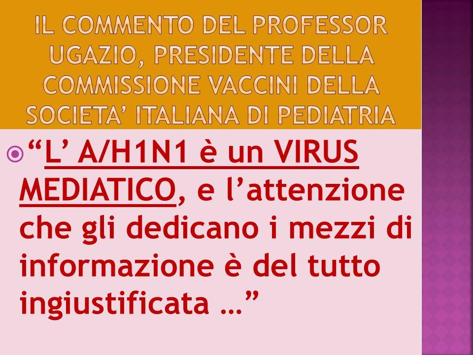 Il commento del professor ugazio, presidente della commissione vaccini della societa' italiana di pediatria