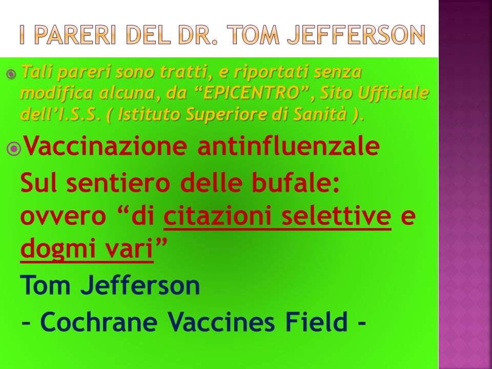 I pareri del dr. Tom jefferson