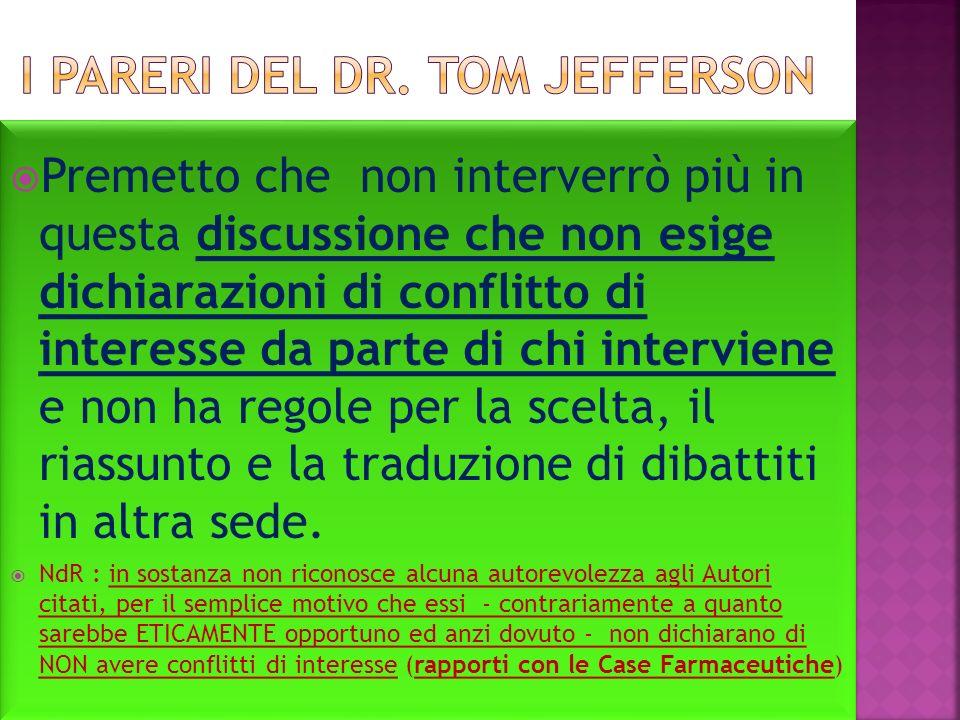 i pareri del dr. Tom Jefferson