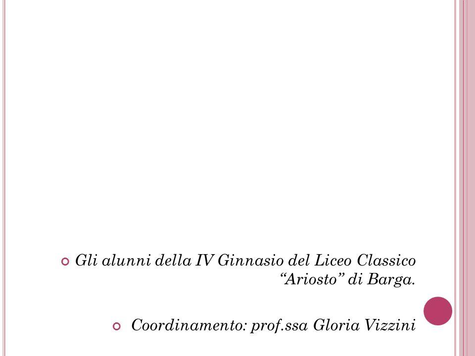 Gli alunni della IV Ginnasio del Liceo Classico Ariosto di Barga.