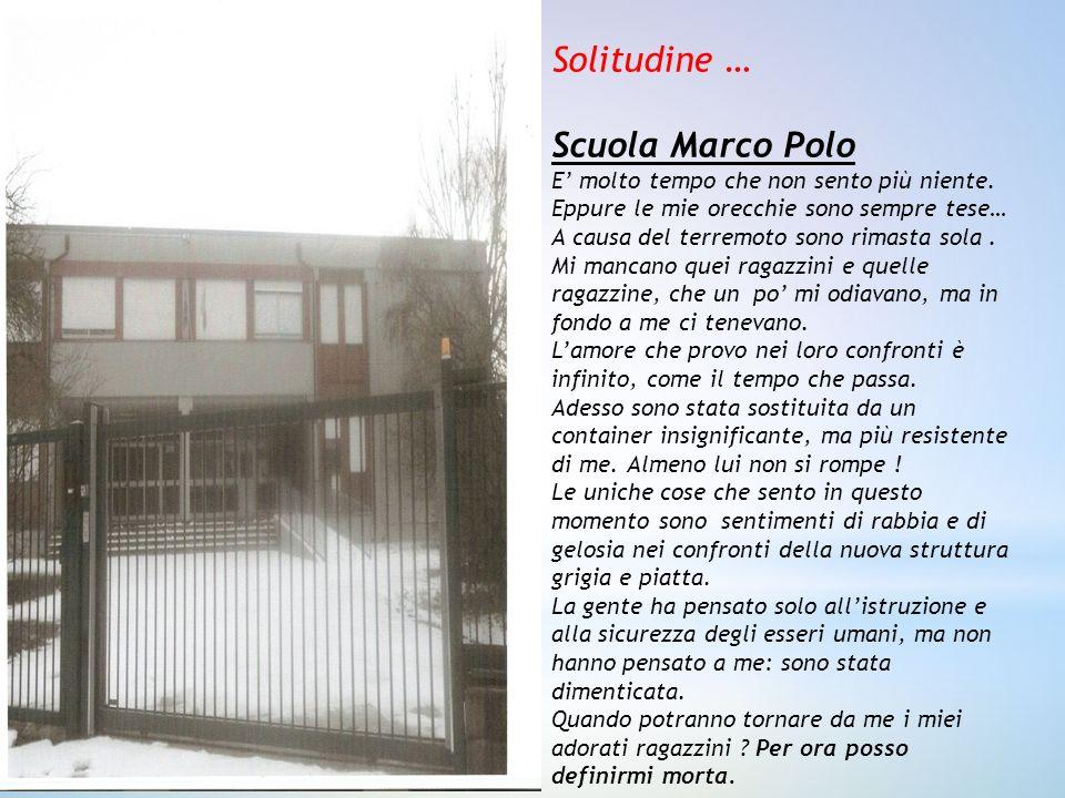 Solitudine … Scuola Marco Polo
