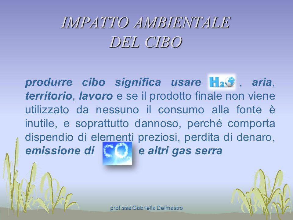 IMPATTO AMBIENTALE DEL CIBO