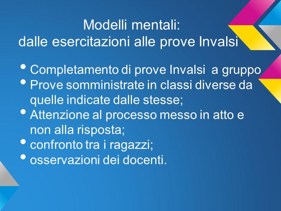 Modelli mentali: dalle esercitazioni alle prove Invalsi