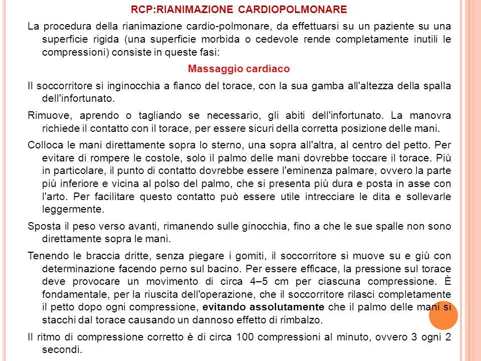 RCP:RIANIMAZIONE CARDIOPOLMONARE