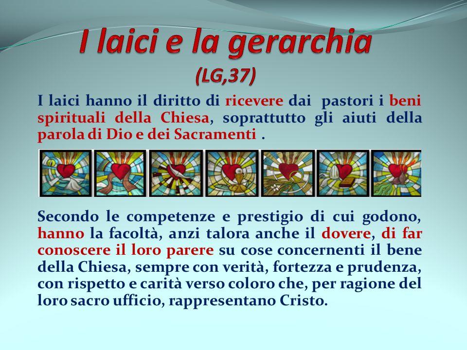 I laici e la gerarchia (LG,37)