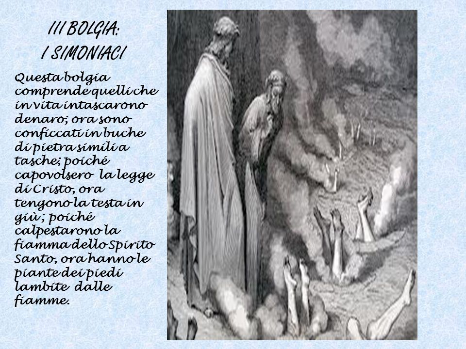III BOLGIA: I SIMONIACI
