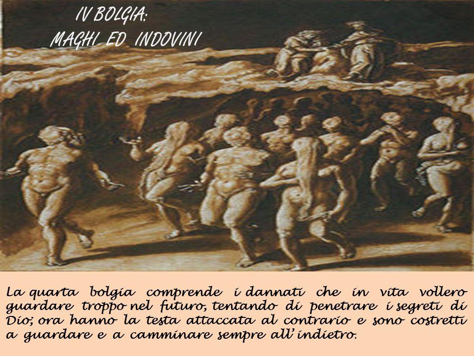 IV BOLGIA: MAGHI ED INDOVINI