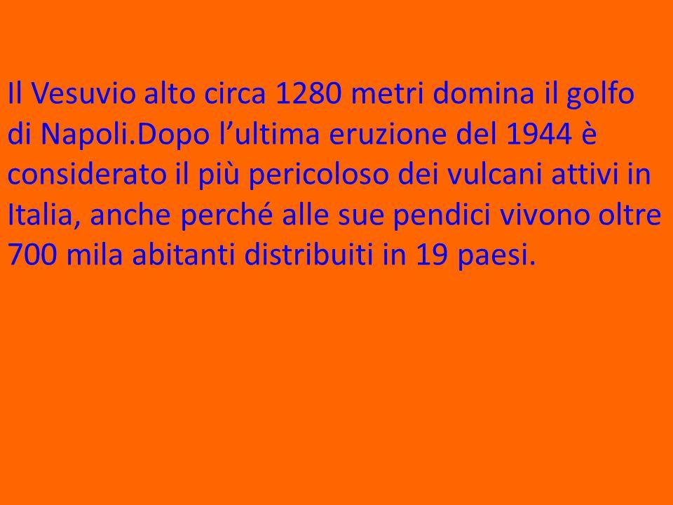 Il Vesuvio alto circa 1280 metri domina il golfo di Napoli