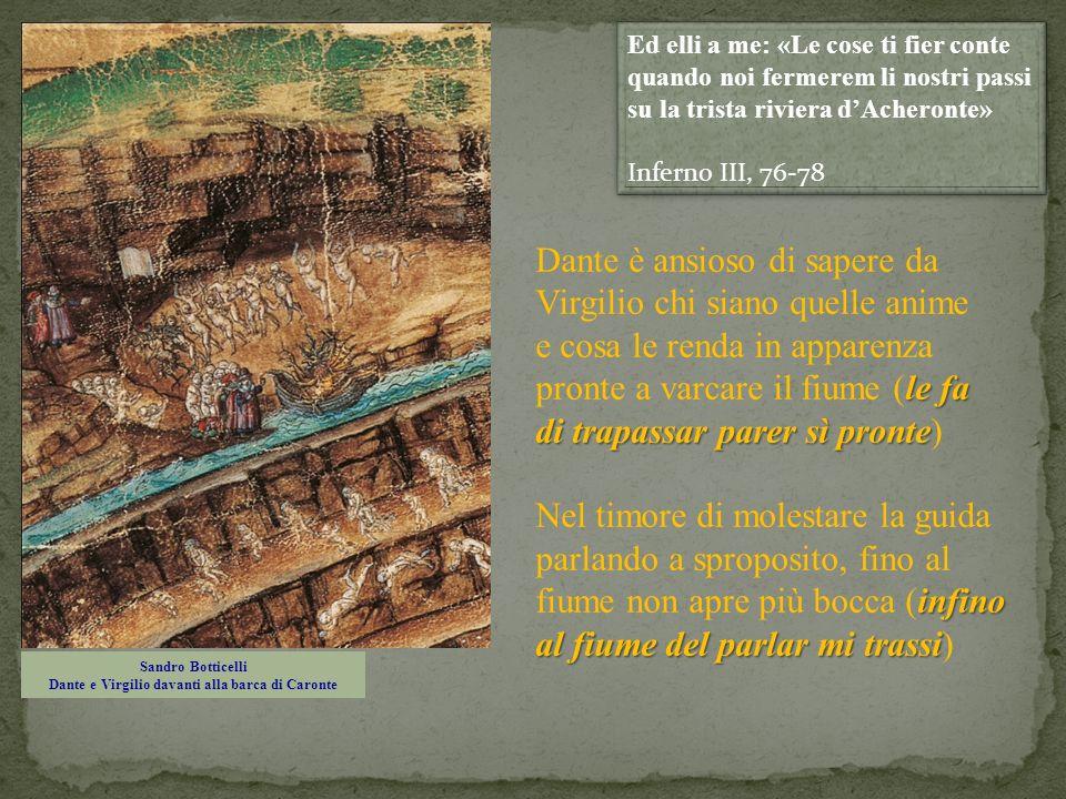 Sandro Botticelli Dante e Virgilio davanti alla barca di Caronte