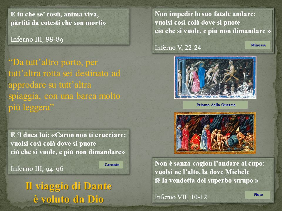 Il viaggio di Dante è voluto da Dio