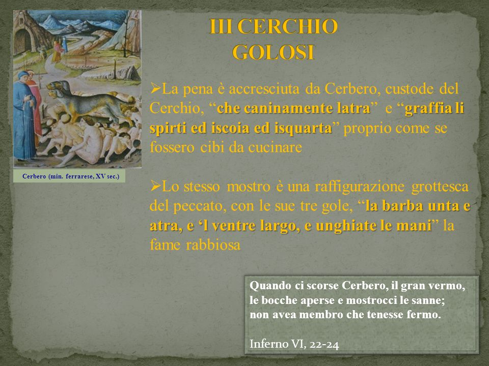 Cerbero (min. ferrarese, XV sec.)