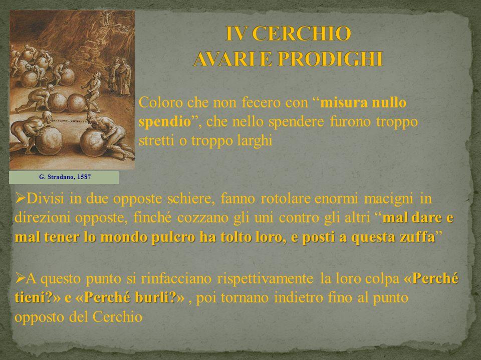 IV CERCHIO AVARI E PRODIGHI