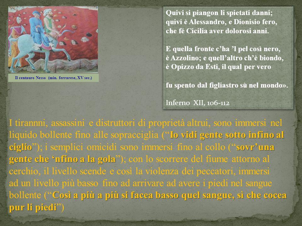 Il centauro Nesso (min. ferrarese, XV sec.)