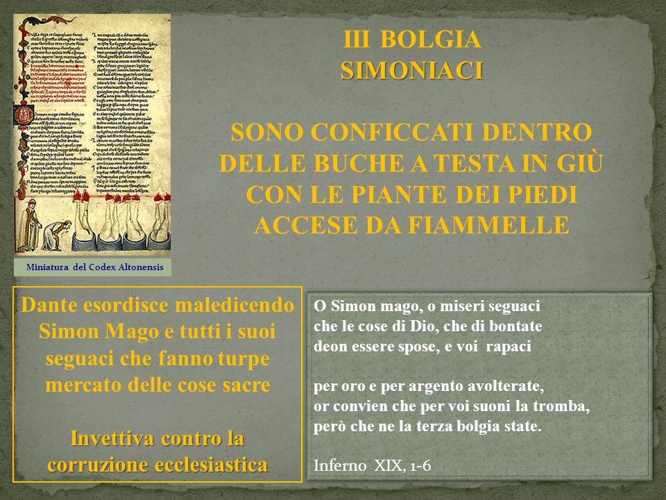 III BOLGIA SIMONIACI