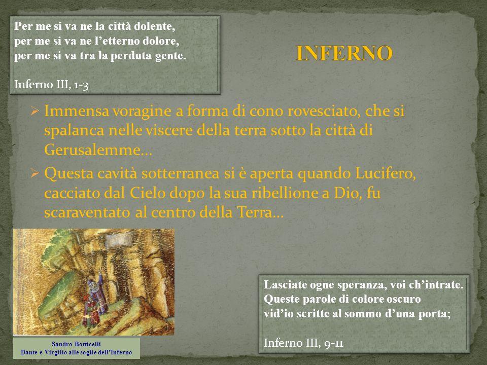 Sandro Botticelli Dante e Virgilio alle soglie dell'Inferno