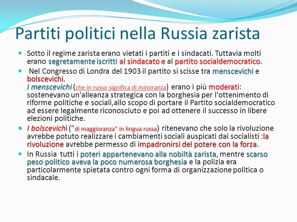 Partiti politici nella Russia zarista