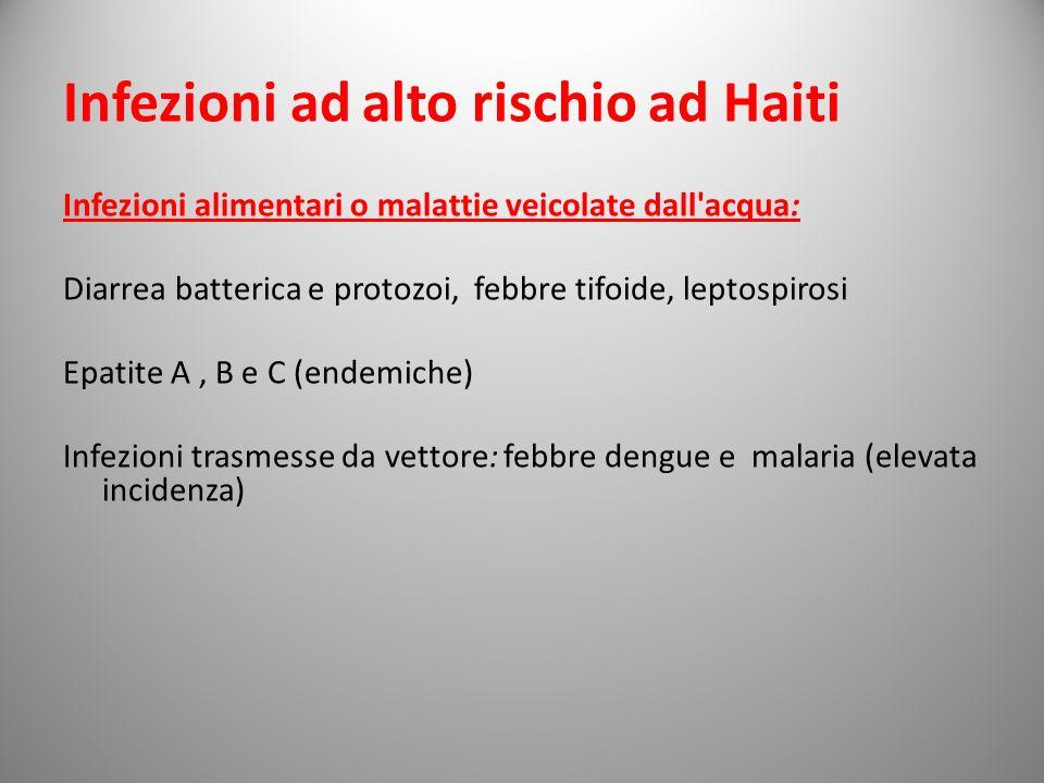 Infezioni ad alto rischio ad Haiti