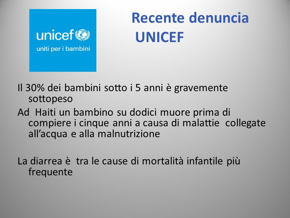 Recente denuncia UNICEF