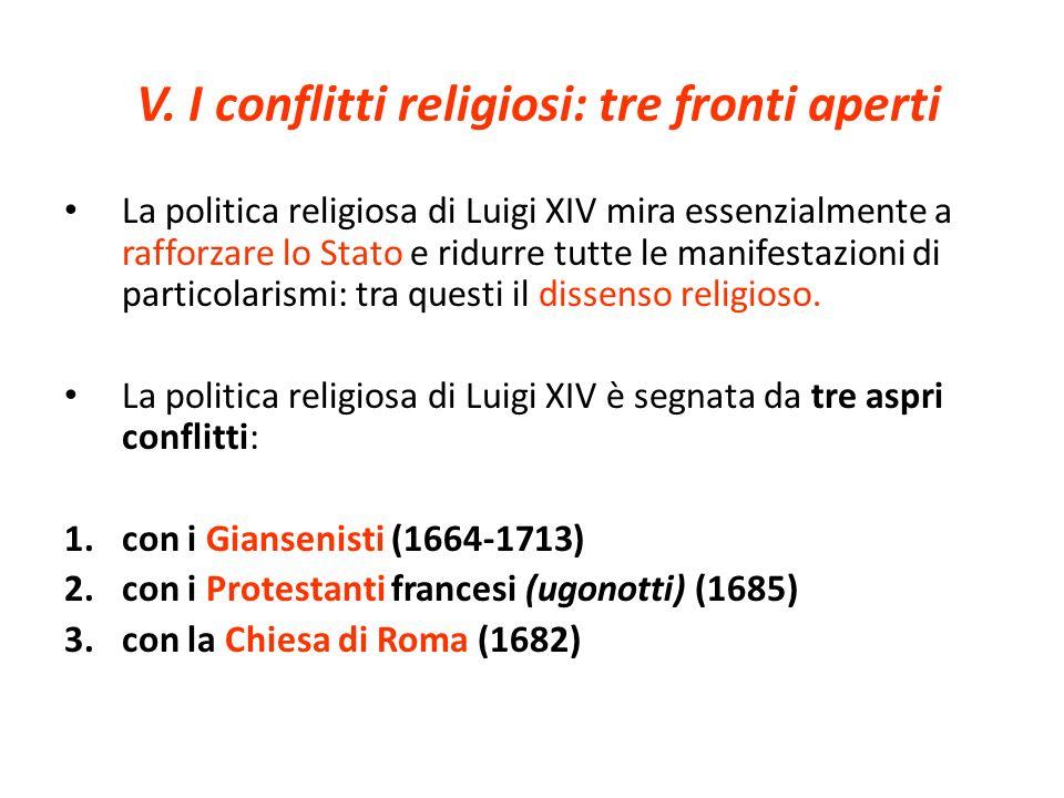 V. I conflitti religiosi: tre fronti aperti