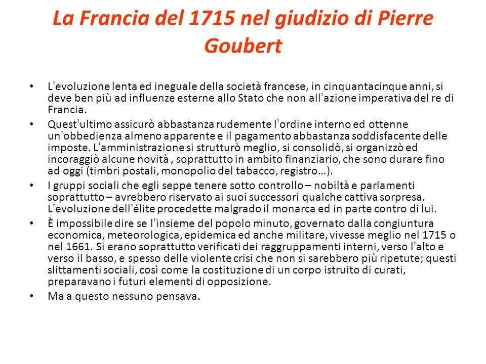 La Francia del 1715 nel giudizio di Pierre Goubert