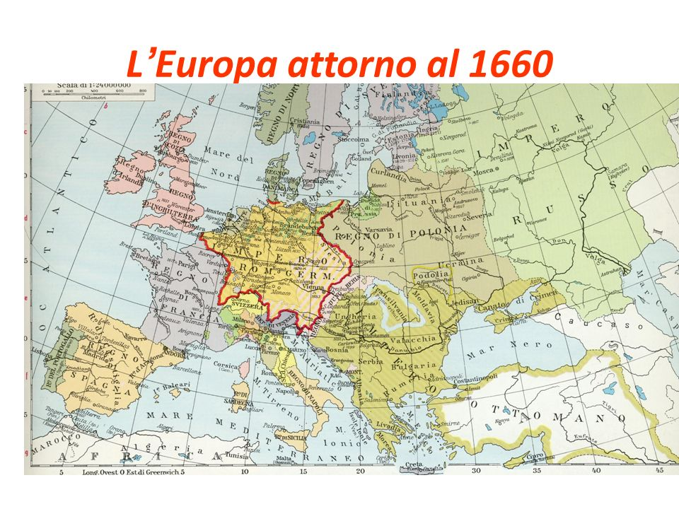L'Europa attorno al 1660