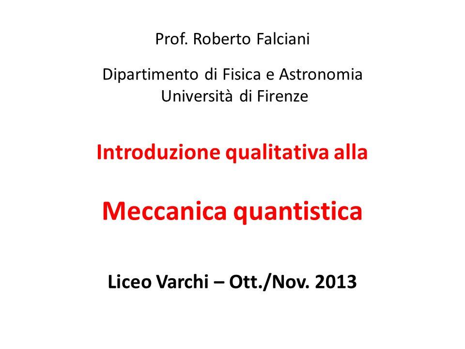Introduzione qualitativa alla Meccanica quantistica