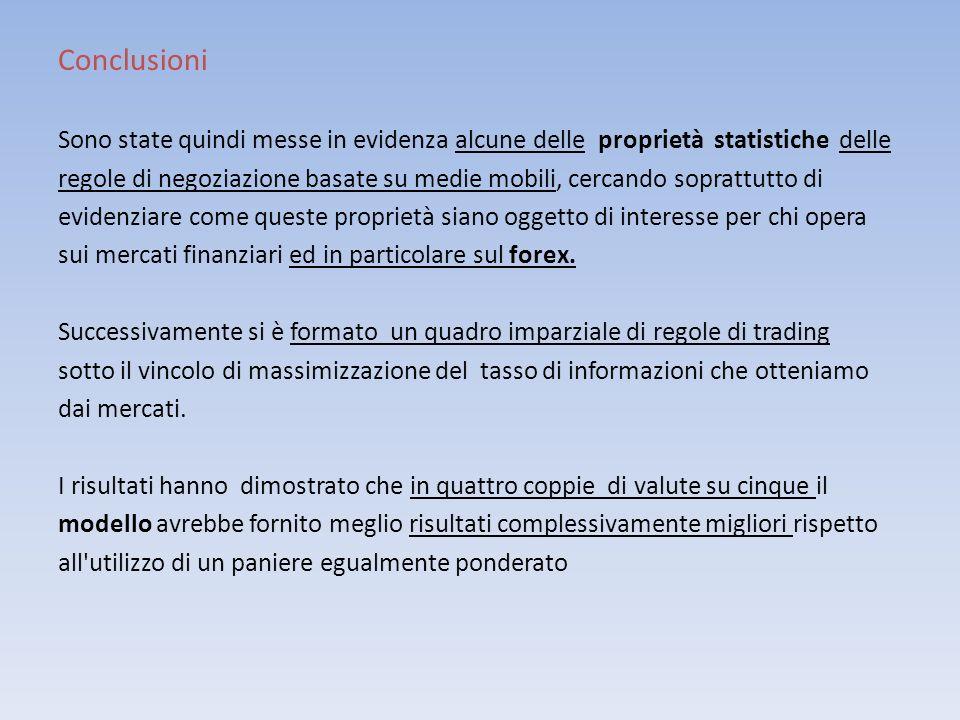 Conclusioni Sono state quindi messe in evidenza alcune delle proprietà statistiche delle.