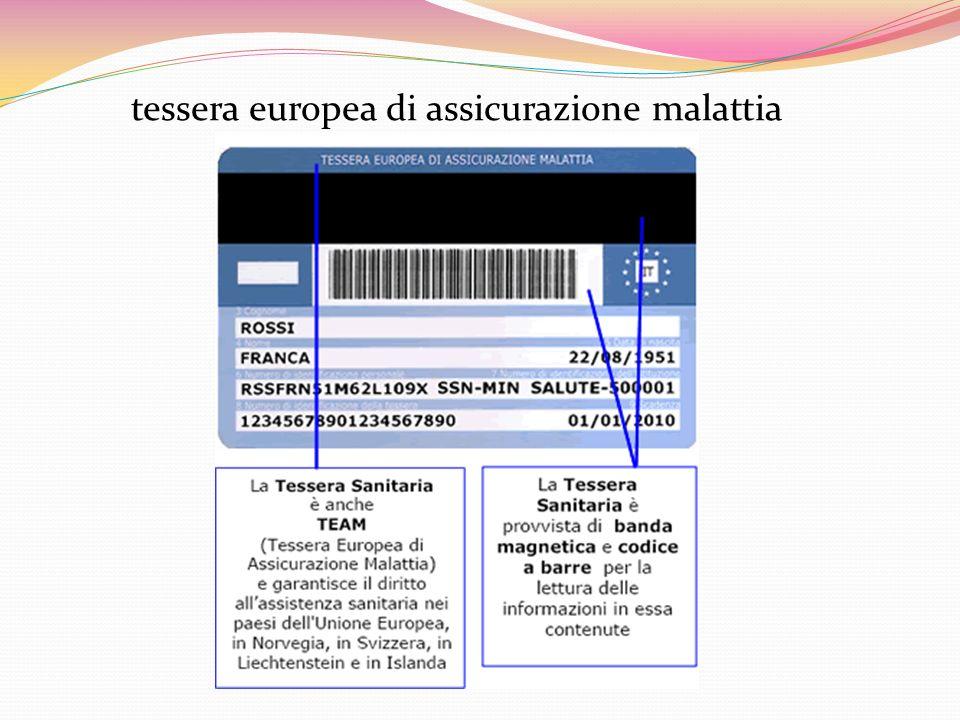 tessera europea di assicurazione malattia