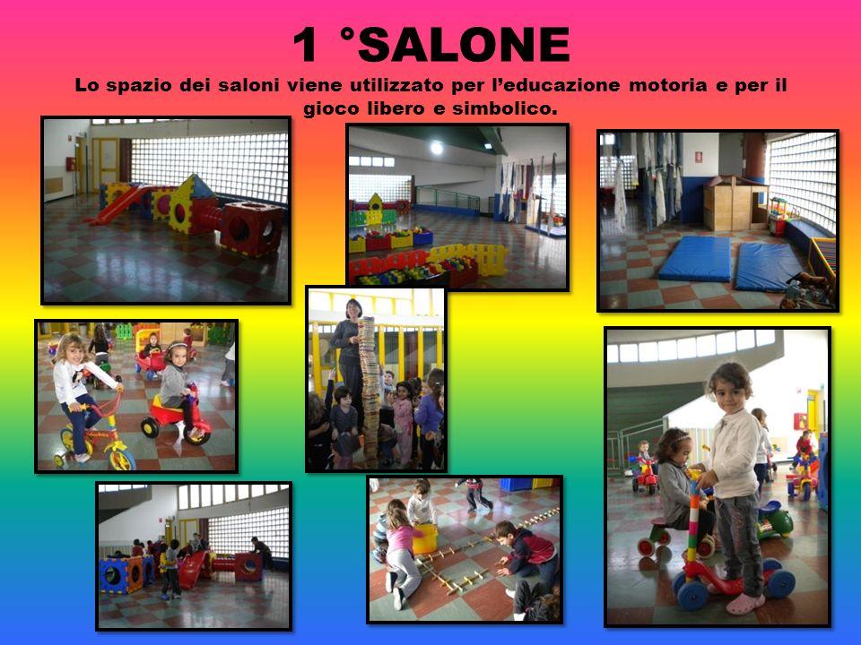 1 °SALONE Lo spazio dei saloni viene utilizzato per l'educazione motoria e per il gioco libero e simbolico.