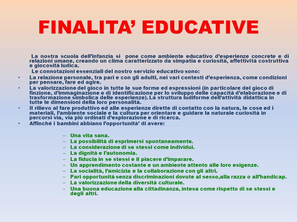 FINALITA' EDUCATIVE