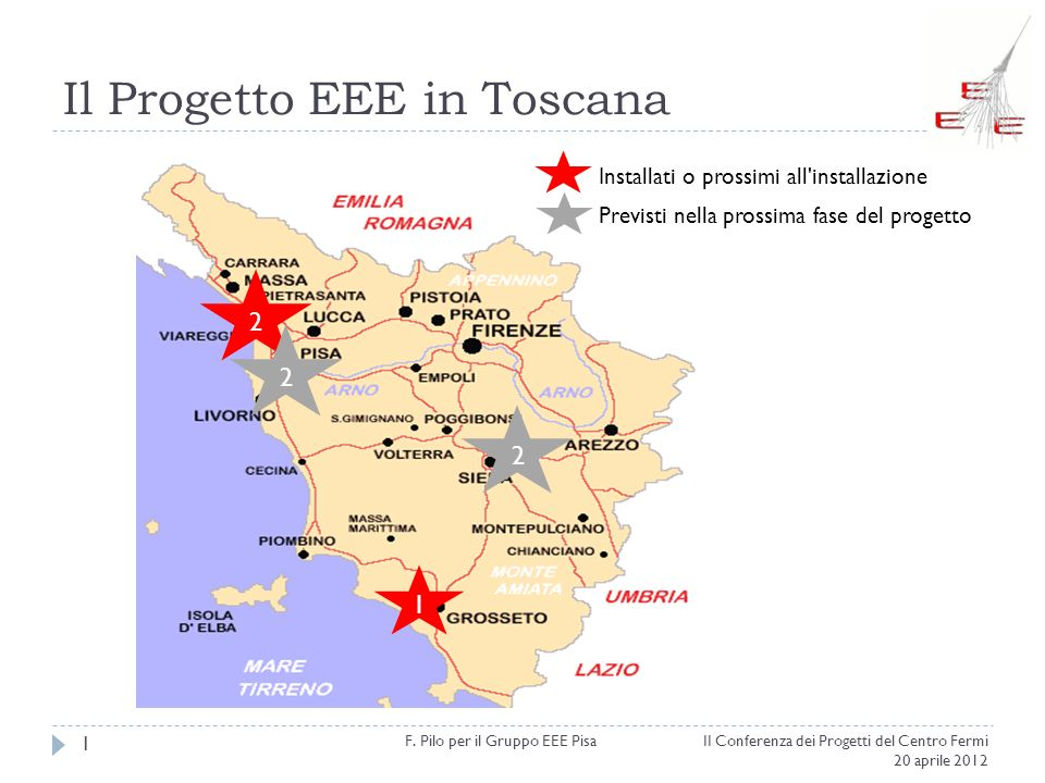 Il Progetto EEE in Toscana