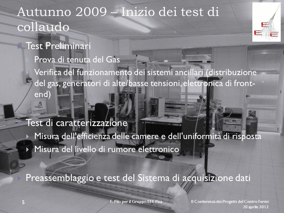 Autunno 2009 – Inizio dei test di collaudo